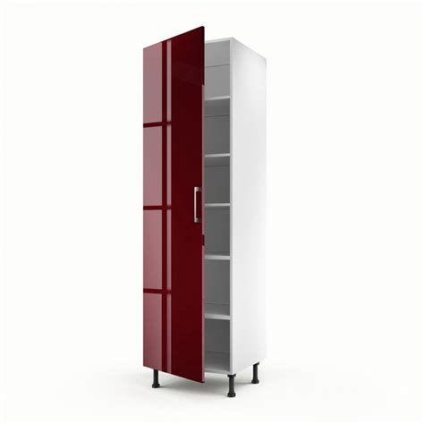meuble de cuisine colonne 1 porte griotte h 200 x l 60 x p 56 cm leroy merlin
