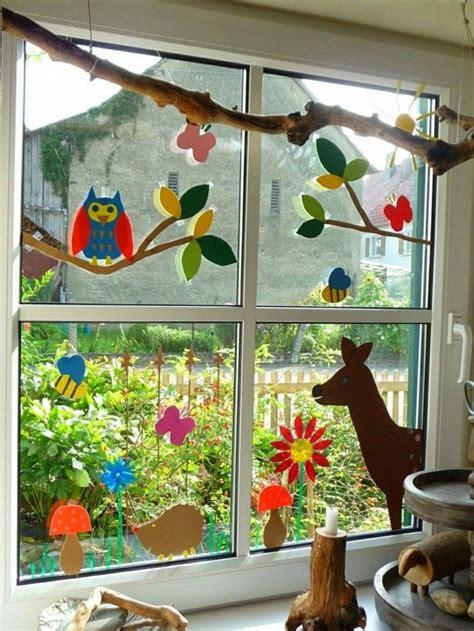Herbst Fenster Basteln by Fensterbilder Basteln Mit Kindern Dekoration