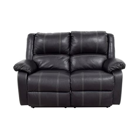 black leather reclining loveseat 49 acme acme black leather reclining loveseat sofas