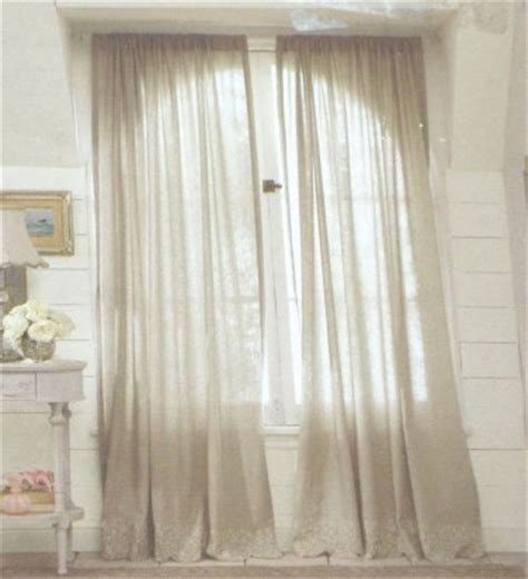 simply shabby chic curtain panel simply shabby chic embroidered linen gray window panels curtains 54 x 84