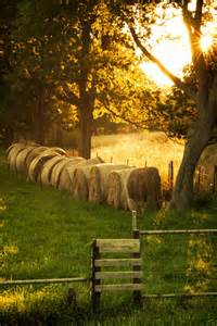 Hay Bale Country Summer Backgrounds