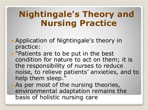 florence nightingale nursing theory philosophy