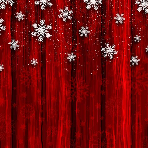 christmas snowflakes  red wood background