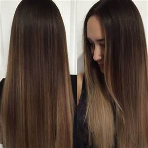 Make this subtle balayage ombre with hints of blonde and ...