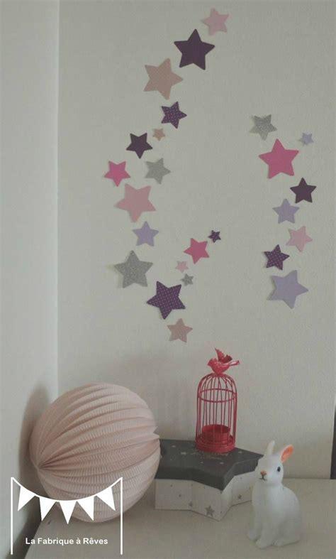 stickers fille chambre lot stickers étoiles parme violet argent décoration