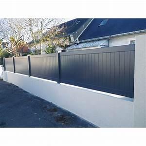 Cloture Pvc Sur Muret : cl ture aluminium pontivy naterial blanc x cm ~ Melissatoandfro.com Idées de Décoration