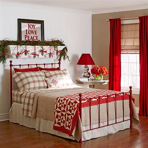 christmas bedroom decorating ideas inspirations