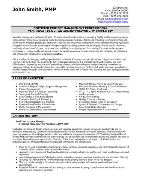 Financial Resume by A Professional Resume Template For A Financial Manager