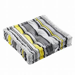 Coussin Gris Et Jaune : coussin de sol 45 cm marina jaune coussin de sol et ~ Dailycaller-alerts.com Idées de Décoration