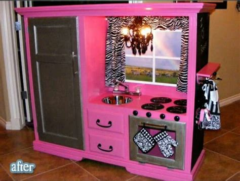 tv cabinet made into play kitchen for a kitchen set cool ideas 9497