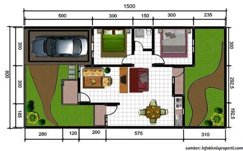 gambar denah rumah minimalis ukuran  terbaru bagus