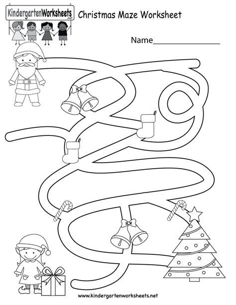 maze worksheet free kindergarten 140   christmas maze worksheet printable