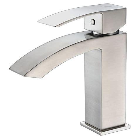 brushed nickel kitchen sink anzzi revere series single single handle low arc 4945