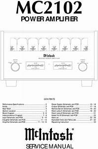 Mcintosh Mc-2102   Original Service Manual