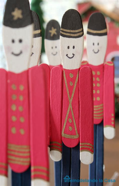 toy soldier craft for kids popsicle stick soldier ornament remodelando la casa
