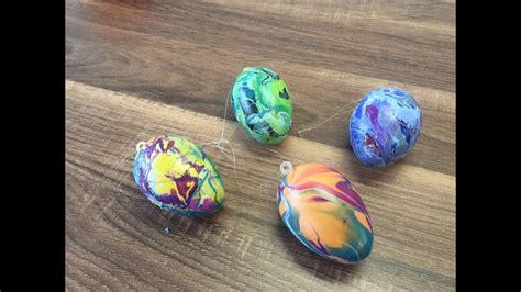 diy eier marmorieren mit einfachen mitteln basteln mit