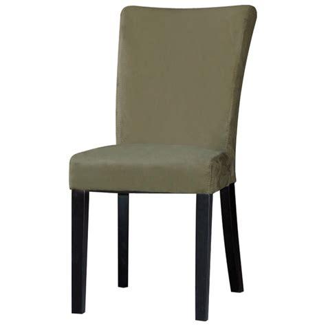 parsons chair satin black legs green microfiber