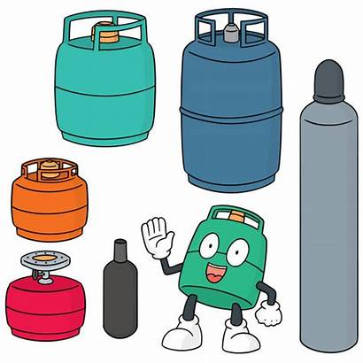Gas Cylinder Drawing Compressed Clip Tank Illustrations