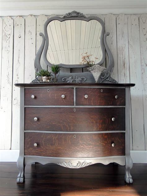 Kitchen Cabinet Stain Ideas - gray and java dresser general finishes design center