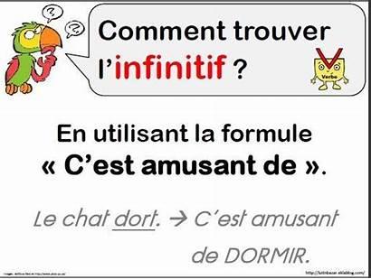 Infinitif Grammaire Verbe Ce1 Trouver Conjugaison Classe