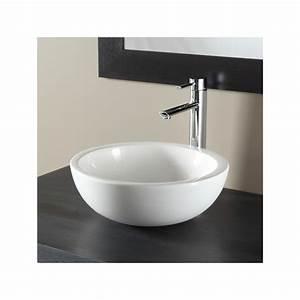 vasque a poser bol vasques salle de bains porcelaine blanche With salle de bain design avec vasque à poser diametre 30