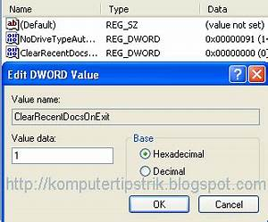 hapus my recent documents history secara otomatis di With my recent documents windows xp