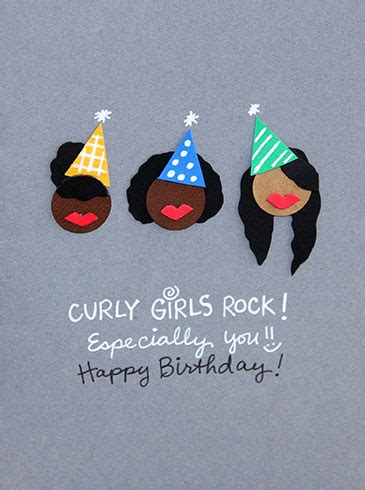 curly girls rock birthday card  happy birthday ecards