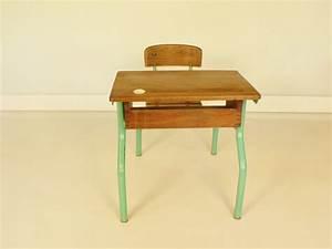 Bureau écolier Vintage : bureau ecolier ~ Nature-et-papiers.com Idées de Décoration