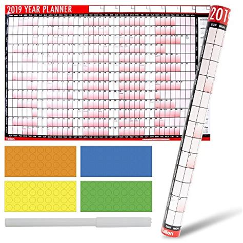 tallon laminated wall planner calendar wipe dry