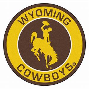 University of Wyoming Cowboys Logo Roundel Mat - 27""