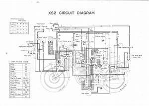 Xs650  72 Xs2  U2013 73 Tx650 Circuit Diagram