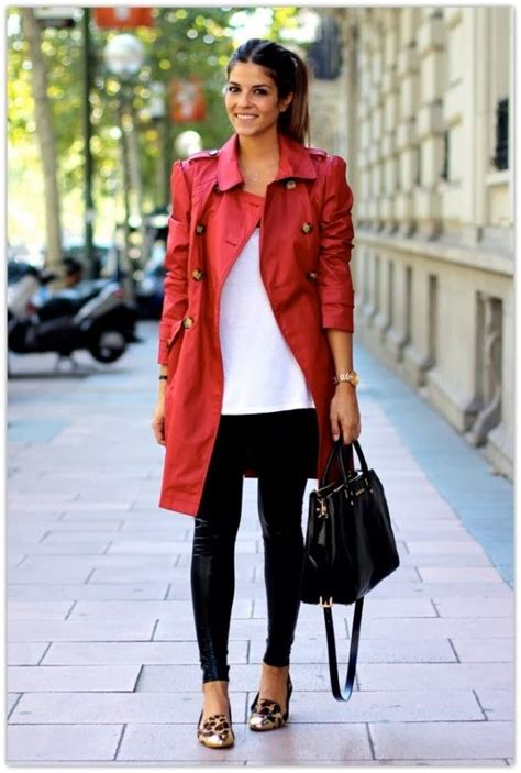 Enrich your wardrobe with the red trench coat - mybestfashions.com