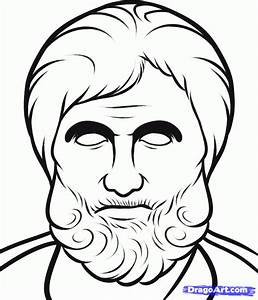 How to Draw Aristotle, Aristotle, Step by Step, Stars ...