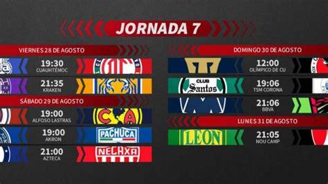 Liga MX: Fechas y horarios del Guardianes 2020, Jornada 7 ...