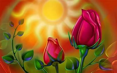 Rose Colorful 3d Roses Wallpapers Desktop Backgrounds