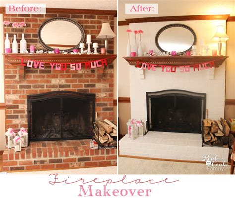 Easy Brick Fireplace Makeover - my exceptionally easy and dramatic fireplace makeover