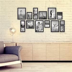 Leere Bilderrahmen Dekorieren : 15er bilderrahmen set modern schwarz servietten pinterest bilderrahmen schwarz ~ Markanthonyermac.com Haus und Dekorationen