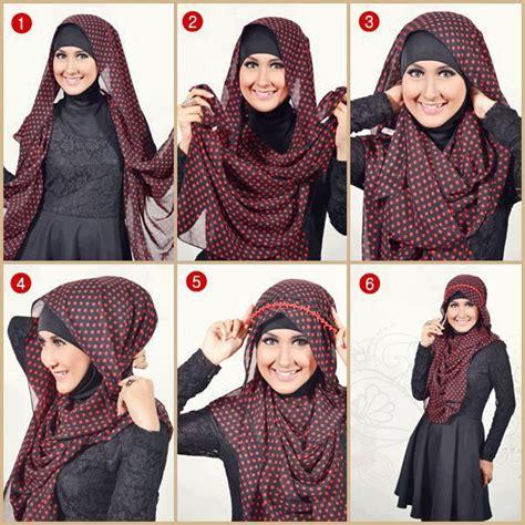 tutorial hijab segi empat modern berhijabid