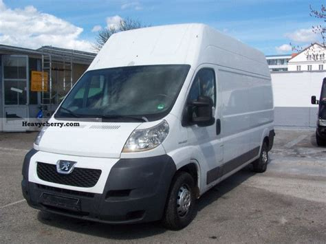 peugeot van boxer peugeot boxer 2007 box type delivery van high and long