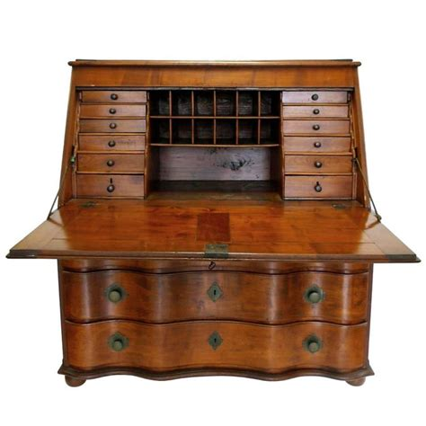 drop leaf secretary desk 19th century swiss drop leaf secretary desk and chest at