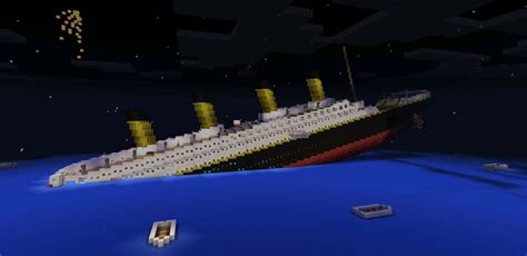 minecraft titanic sinking survival rms titanic sinking creation minecraft pe maps