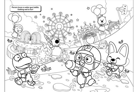 pororo coloring pages getcoloringpagescom