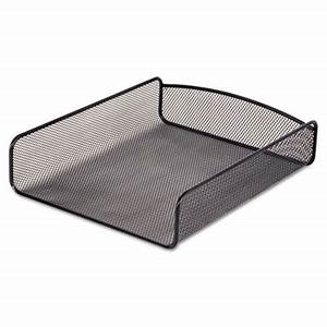 saf 3272bl safco desk tray single tier steel mesh With white mesh letter tray
