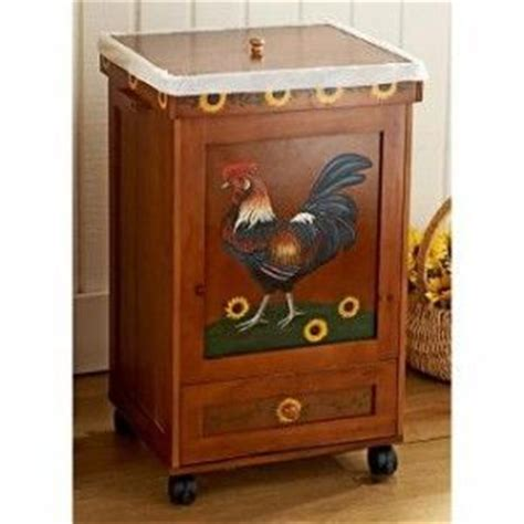 country wooden trash bin   Wood Rolling Trash Can With