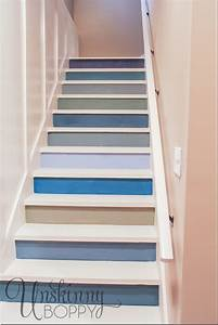 Painted basement steps with board and batten unskinny boppy for Painted basement stairs