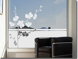 Sichtschutz Für Fensterscheiben : fensterfolie bezaubernde orchidee sichtschutzfolie ~ Markanthonyermac.com Haus und Dekorationen