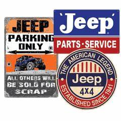 All Things Jeep Classic Jeep Metal and Neon Signs