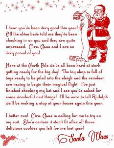 letter from santa christmas printable free free With a letter from santa free