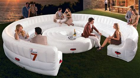 beach airlounge xl   party sized inflatable couch