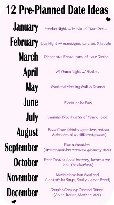 diy  pre planned date cards